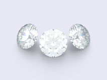 3 diamanti Fotografie Stock Libere da Diritti