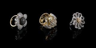 3 diamentowego pierścionku trzy Zdjęcia Stock