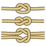 3 different knots. Art illustration of 3 different knots Royalty Free Stock Photography