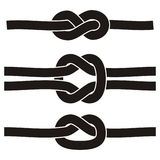 3 different knots. Art illustration of 3 different knots Royalty Free Stock Images