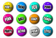 3-Dimensional High Quality Sphere Set. High Quality Sphere Collection Set Royalty Free Stock Images