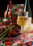 3 dinning的节假日 免版税库存图片