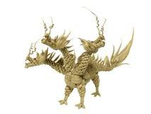 3 dirigiram o dragão Fotografia de Stock Royalty Free