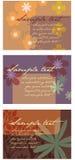 3 disposiciones florales abstractas Foto de archivo libre de regalías