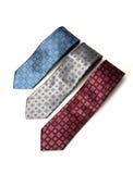 3 diversos lazos del cuello del color Foto de archivo libre de regalías