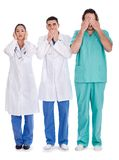3 doctors Don't see, don't speak and don't hear Stock Photos