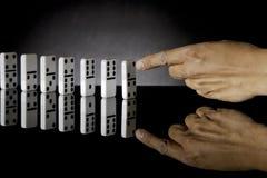 3 Domino推进了 免版税库存图片