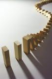 3 domino skutek Zdjęcia Stock