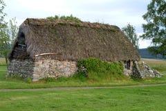 3 domku culloden leanach Scotland Obraz Royalty Free