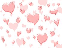 3 doodle wzór tła serc Fotografia Royalty Free