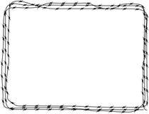 3 drut kolczasty tła Obrazy Stock