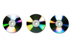 3 dvds cds/ zdjęcie stock