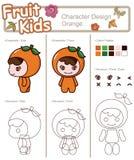 3 dziecka owocowy warzywo Zdjęcia Royalty Free
