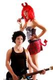 3 dziewczyn glam rock Zdjęcie Royalty Free