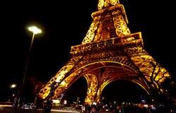 3 Eiffel noc wierza Zdjęcie Royalty Free