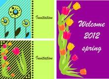 3 Einladungs-Karten Stockfoto