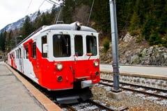3 eleectric红色瑞士培训 库存照片