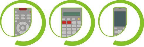 3 elektronicznego gadżetu Fotografia Stock