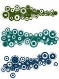 3 elementos del paisaje de Grunge ilustración del vector