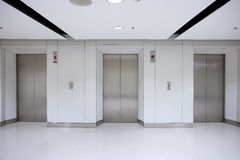3 elevator in office building Stock Photography