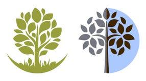 3 emblemata drzewa wektor Zdjęcia Stock