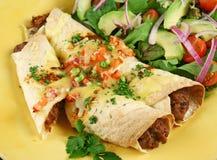 3 enchiladas говядины фасоли Стоковые Изображения RF