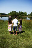 3 enfants à l'extérieur photographie stock libre de droits