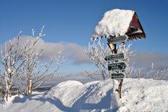 3 erzgebirge横向冬天 库存照片