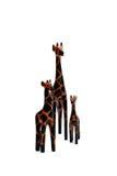 3 estatuillas de la jirafa Fotos de archivo libres de regalías