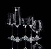 3 exponeringsglas wine Arkivbilder