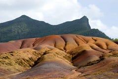 3 färgad jord mauritius sju Arkivbilder