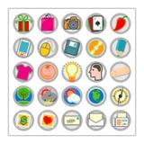 3 färgade symbolen set version1 Arkivbild