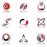 3 färger planlägger grå red för element royaltyfri illustrationer