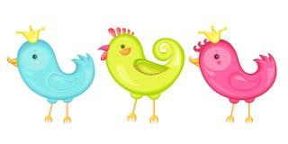 3 fåglar Arkivfoto