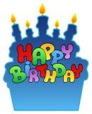 3 födelsedag lyckligt tema royaltyfri illustrationer