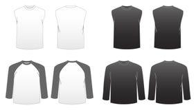 3 för serieskjorta t för män s mallar arkivbilder