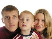 3 familj tre Arkivbild