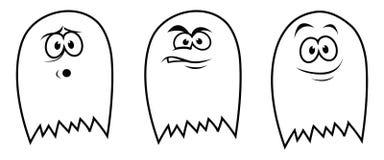 3 fantasmas Fotos de Stock Royalty Free
