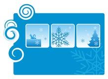 3 ferie vinter vektor illustrationer