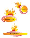 3 fiery hot blank frames. Illustration / put your own message Stock Images