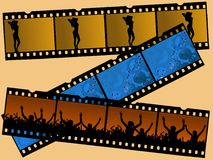 3 Film Strips Royalty Free Stock Photo