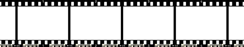 3 filmowej x4 rama Zdjęcie Stock
