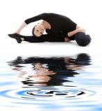 3 fizycznej fitness trykocie czarny piasek white Zdjęcia Royalty Free