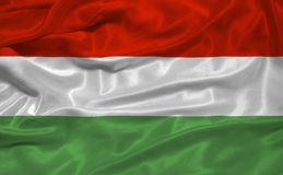 3 flagga hungary Royaltyfria Bilder
