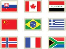 3 flags штемпеля Стоковые Изображения