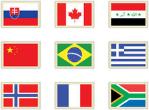 3 flags stämplar Arkivbilder
