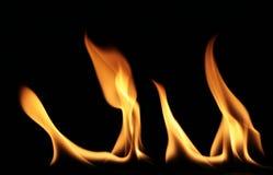 3 flammor arkivfoton