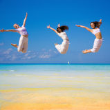 3 flying girls Royalty Free Stock Photography