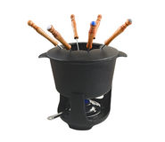 3 fondue set Zdjęcie Stock