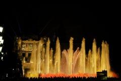 3 fontann magiczny przedstawienie Fotografia Stock